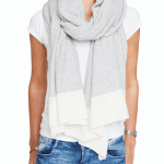 Cashmere travel wrap white
