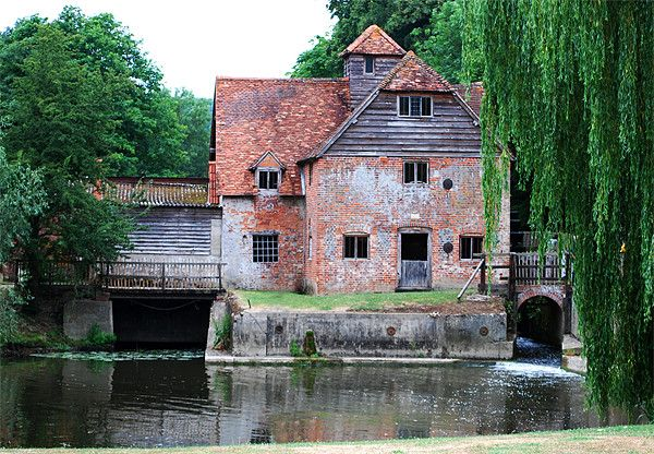 Mapledurham watermill, Oxfordshire. The last working watermill on the River Thames