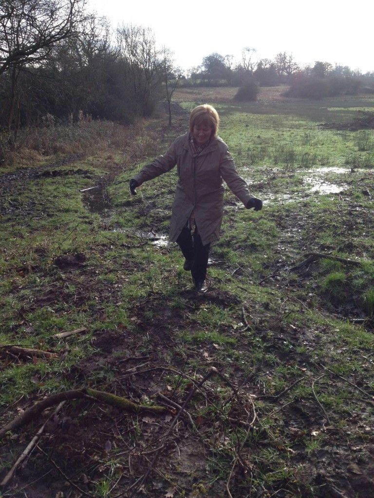 My mum, just before she got stuck in the mud.