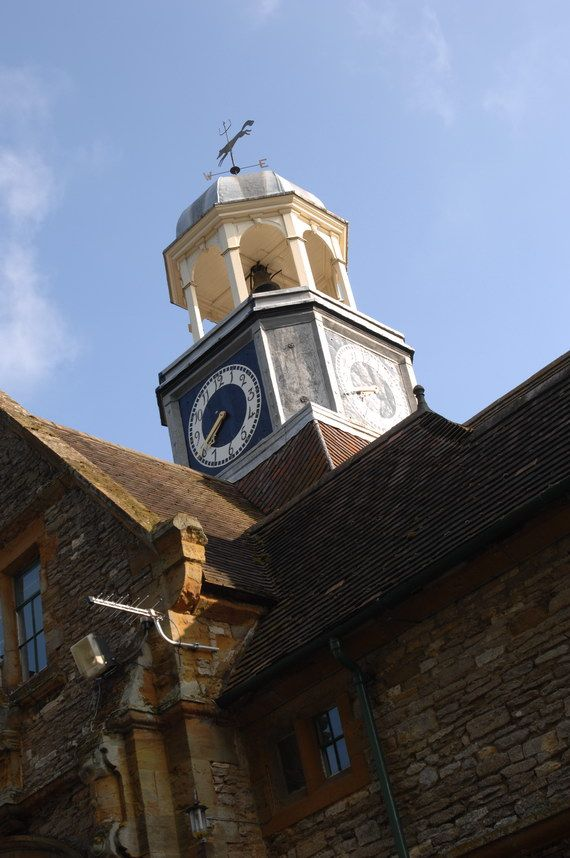 School building clock tower