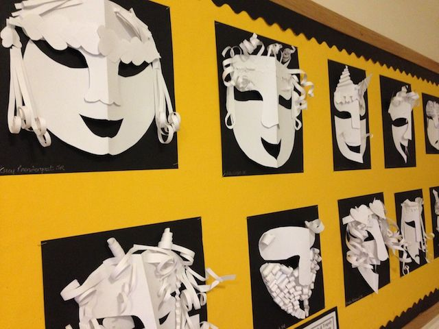 Greek masks I snapped at the school