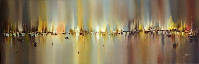 View ofthe Yellow Harbour Lights I 48x16