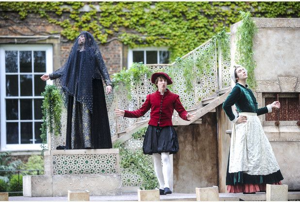 09/06/15 Lord Chamberlain's Men performing outdoor production of Twelfth Night in Ely - Old Palace, Palace Green, Ely