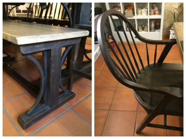 Table £858, bench £385, chair £199