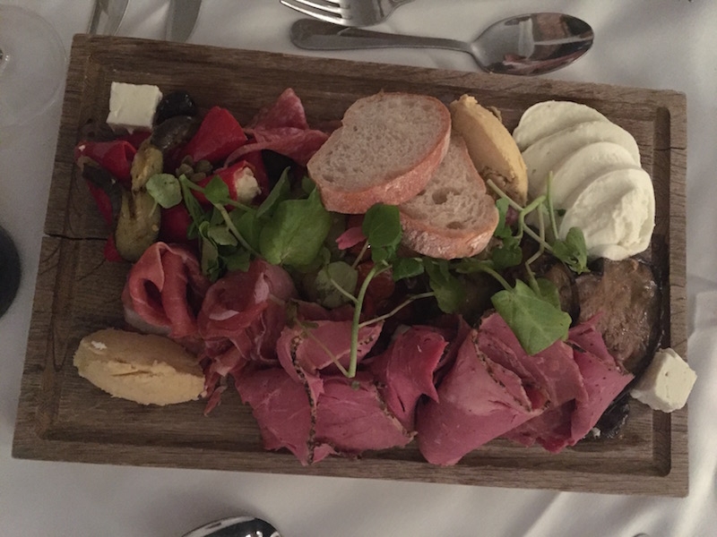 A charcuterie sharing platter of dramatic proportions. It felled us.