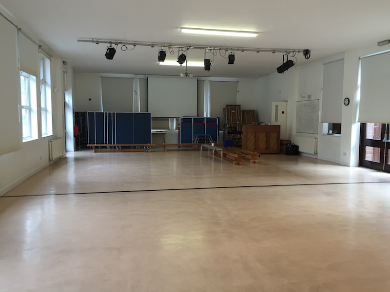 The main hall in the pre-prep school