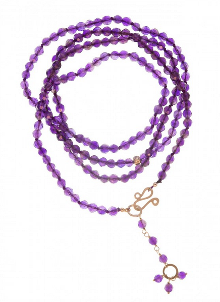Long amethyst necklace, £289