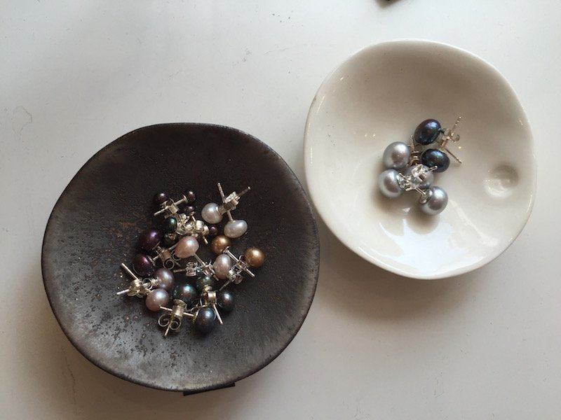 earrings in pots