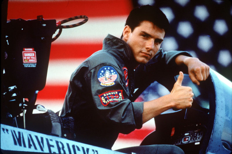 Tom Cruise, 12 years old and in charge of a fighter plane.