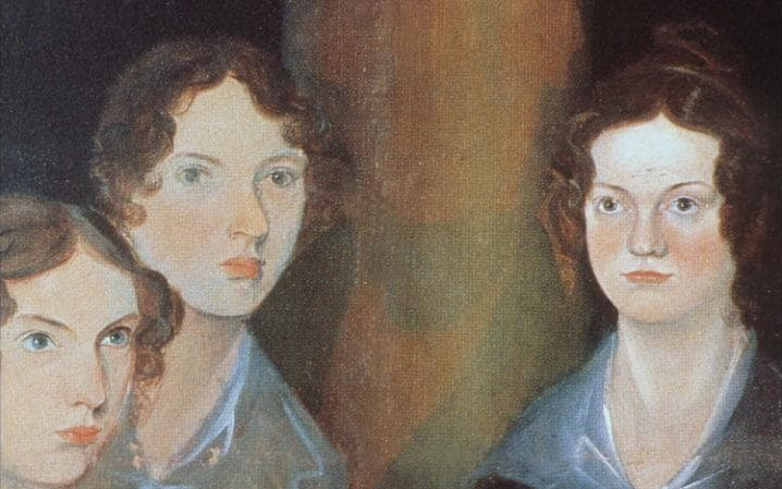 three Bronte sisters oil painting