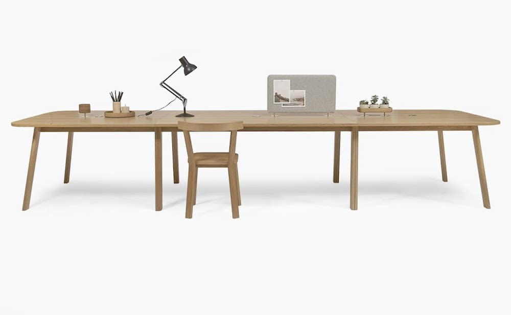 long wooden desk