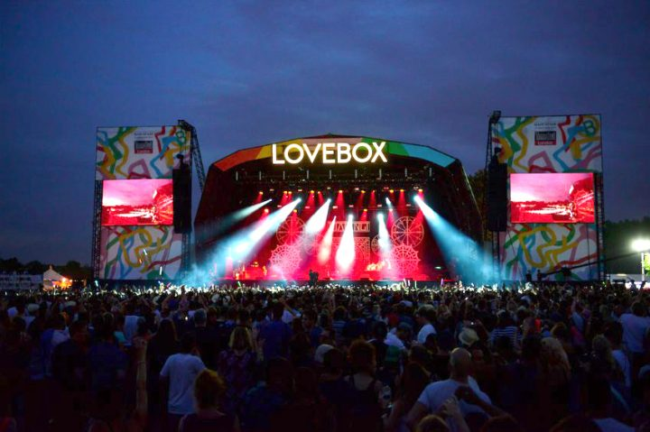 love box festival stage at night