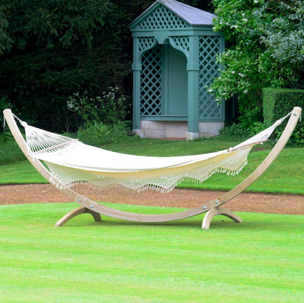 white hammock in garden