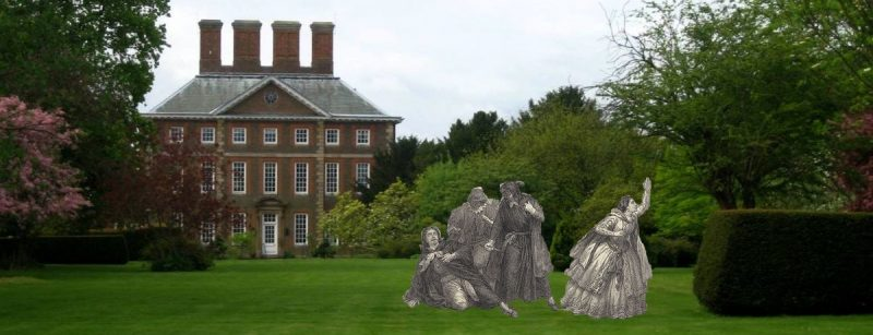 Winslow hall with Opera characters in front