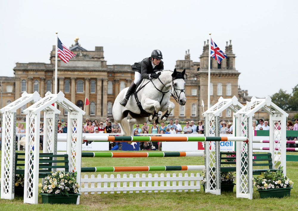 show jumping blenheim horse trials