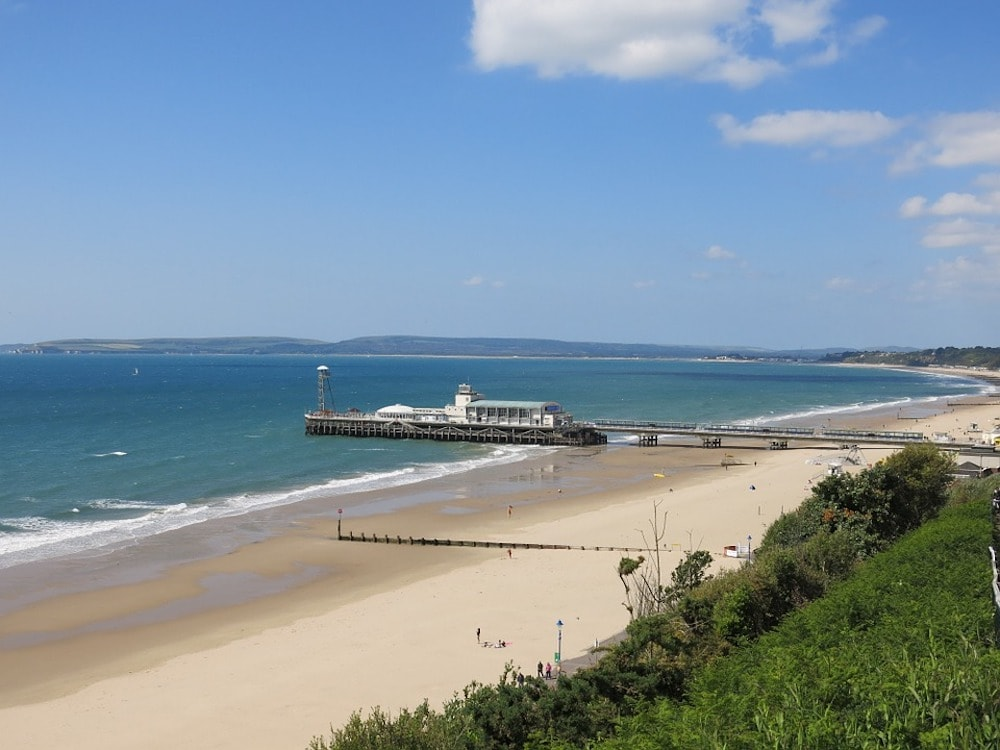 Bournemouth beach sand sea and pier