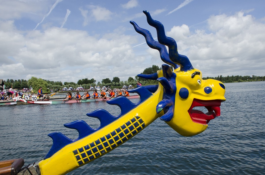 dragon boat on river