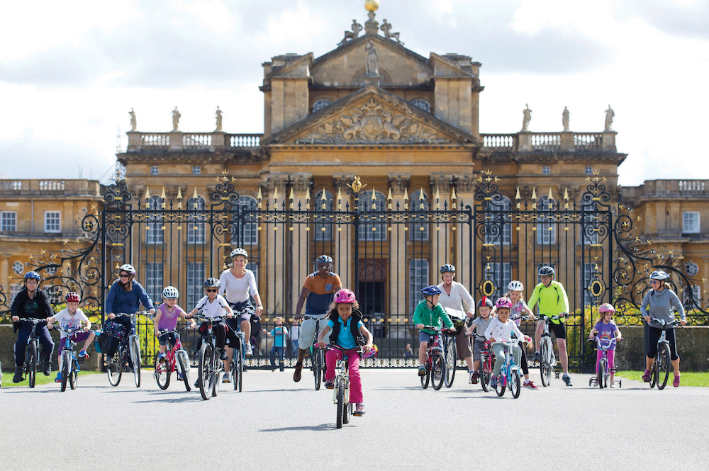 blenheim palace cycling families