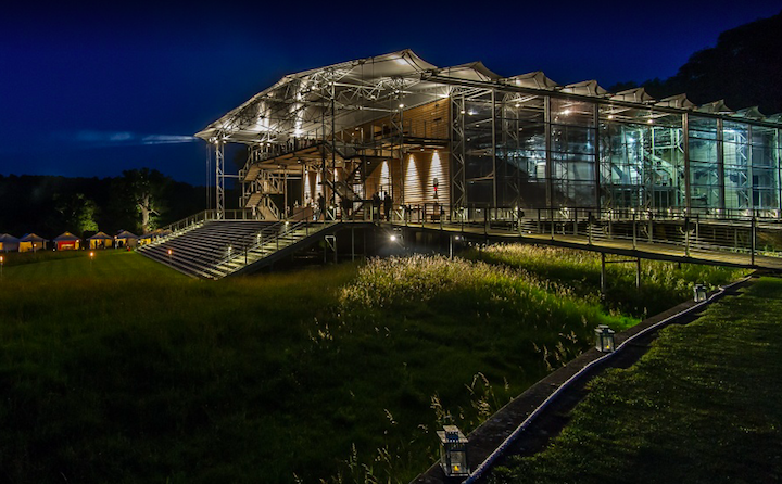 outdoor opera theatre at night time
