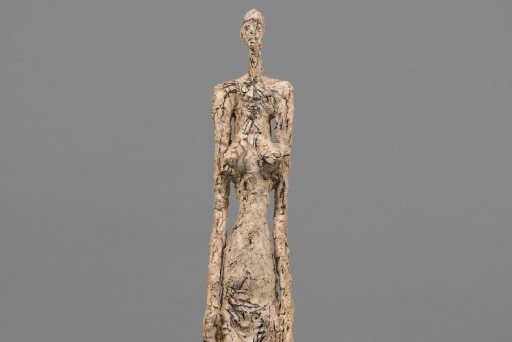 Giacometti sculture thin deformed woman