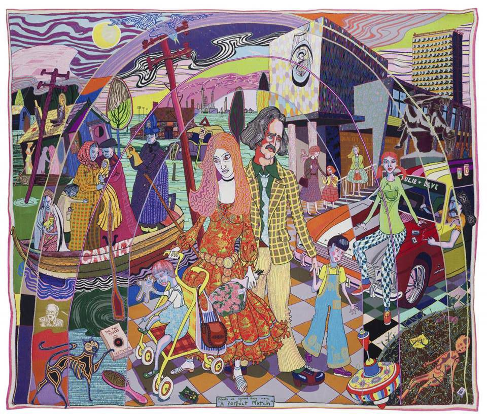 Grayson Perry multicoloured tapestry