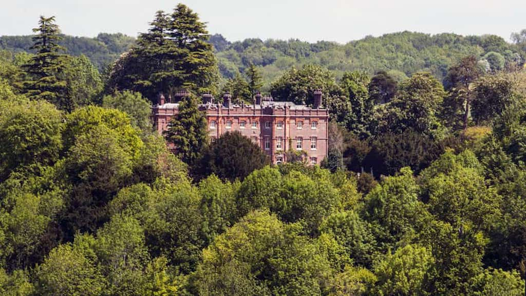 hughenden manor surrounded by trees