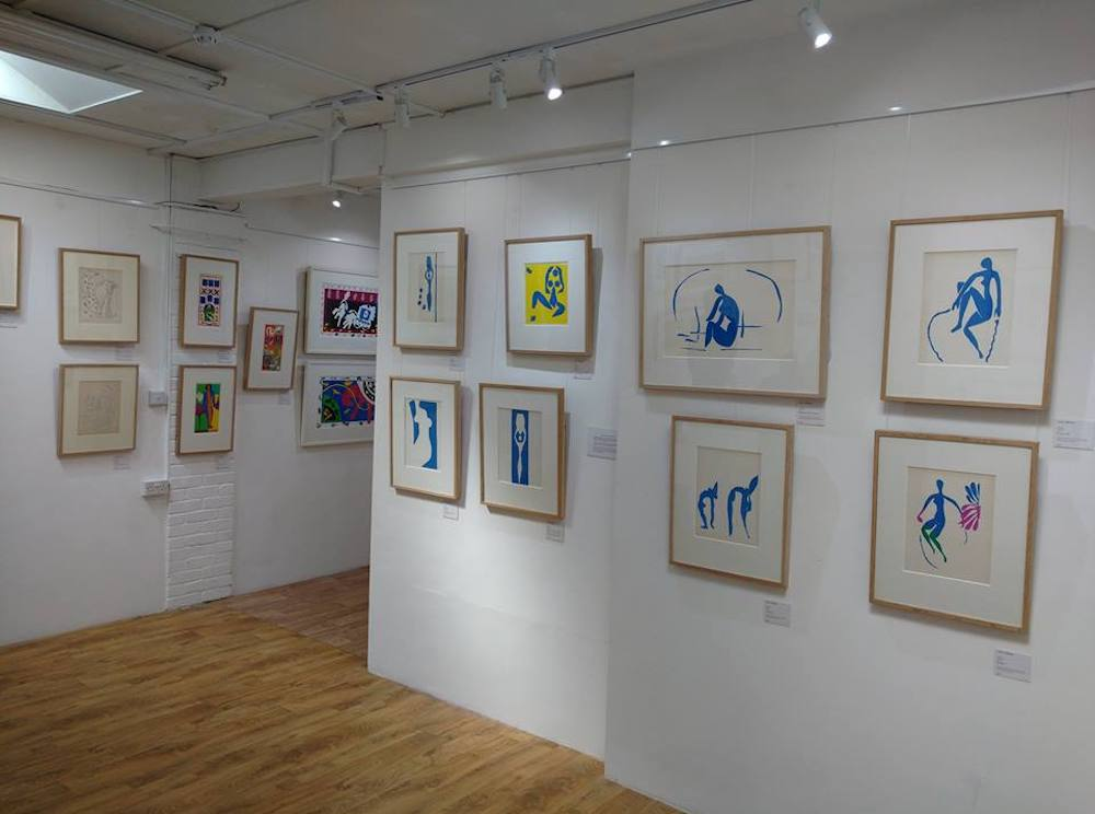 white wall art gallery matisse lithographs