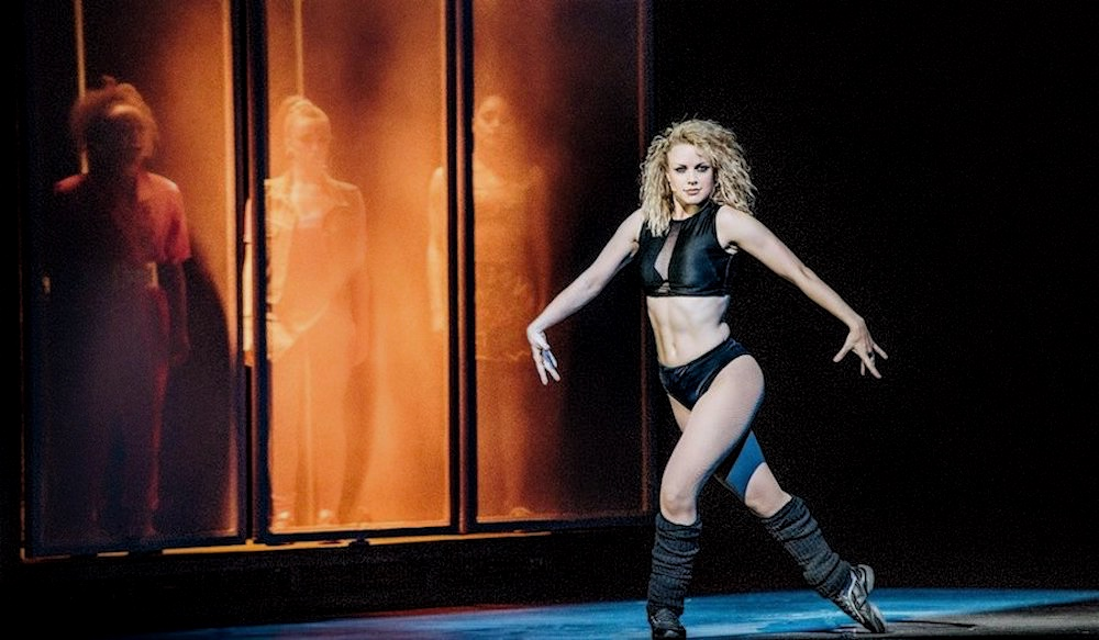 joanne clifton in black underwear dancing on stage