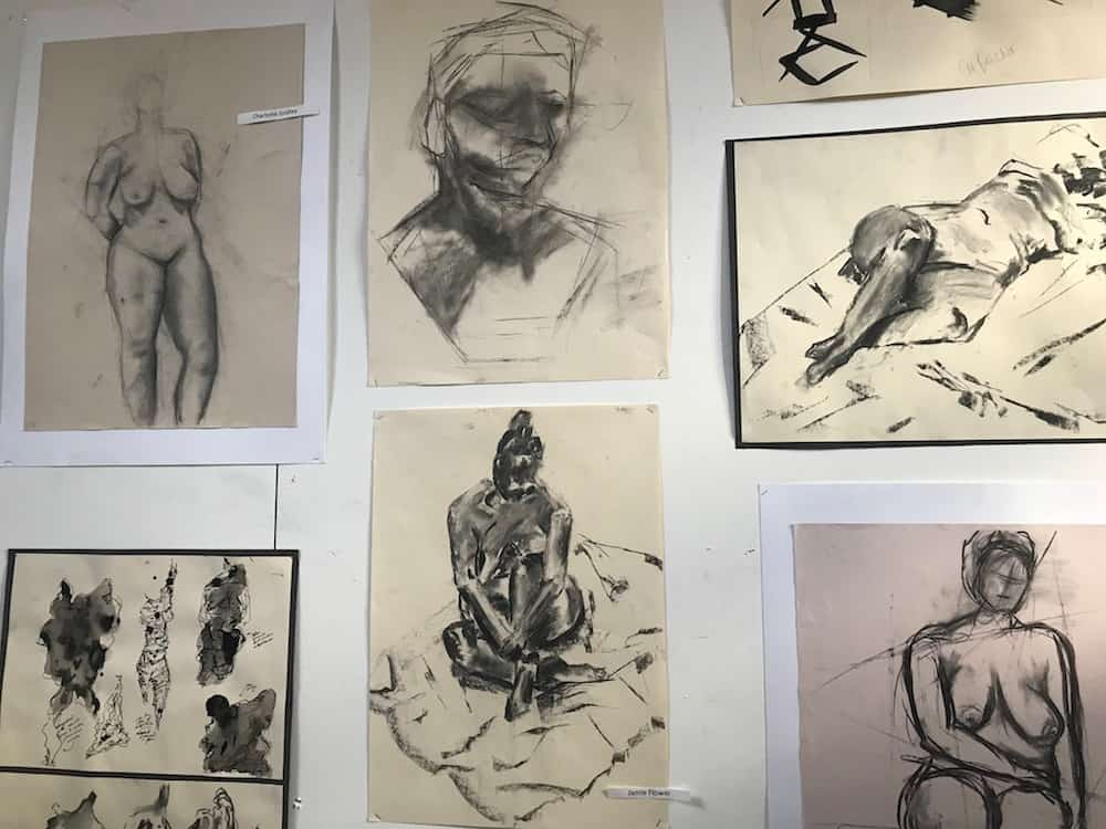 drawings by students at Bloxham school
