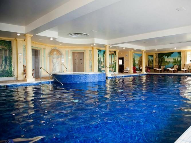 indoor spa turquoise pool