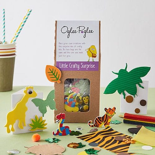 oglee poglee childrens party bag jungle themed crafts