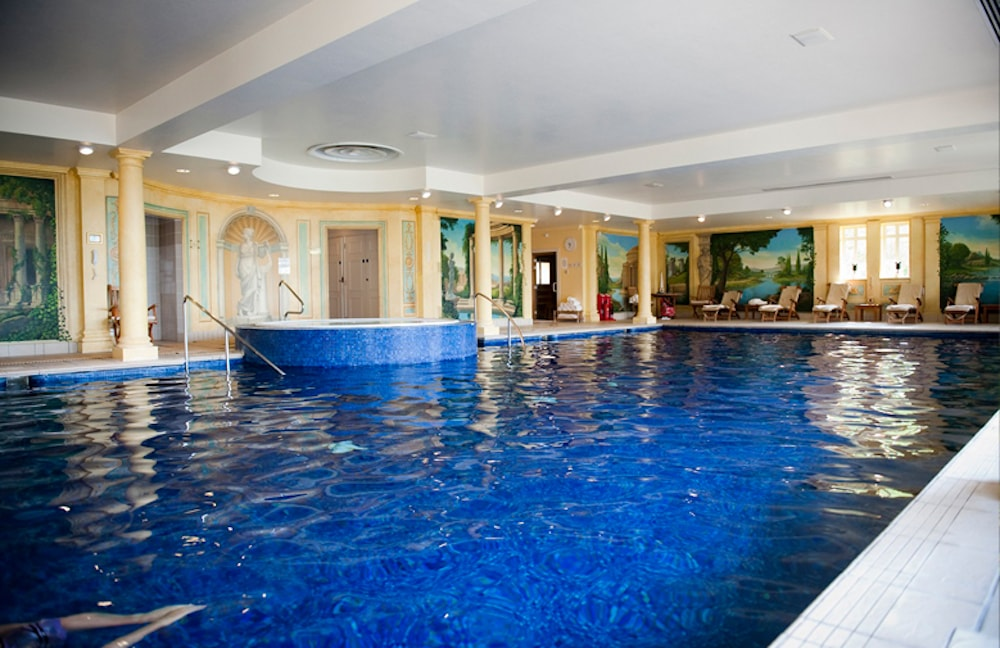 danesfield house spa indoor pool turquoise water