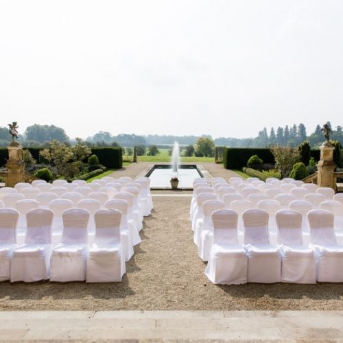 picture of eynsham hall wedding outside