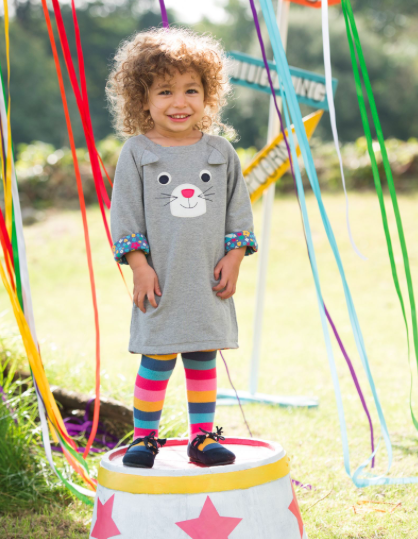 picture of kid wearing gray leveret bunny dress