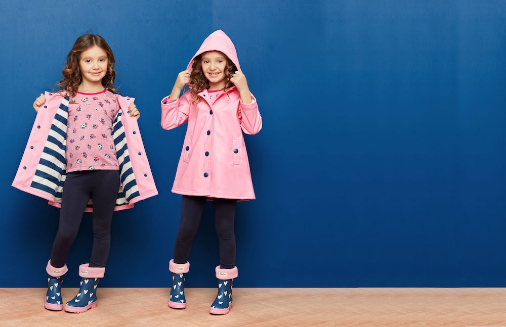 picture of little girl wearing pink leveret clothing