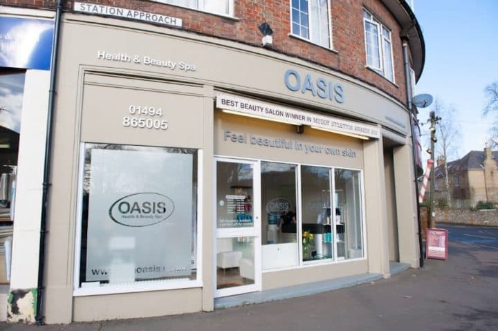 oasis salon shop front exterior