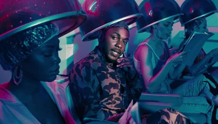 kendrick Lamar humbles music video kendrick sitting in hairdressers