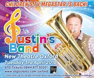 muddy stilettos MPU Justin's Band New Theatre Oxford children's tv star poster April