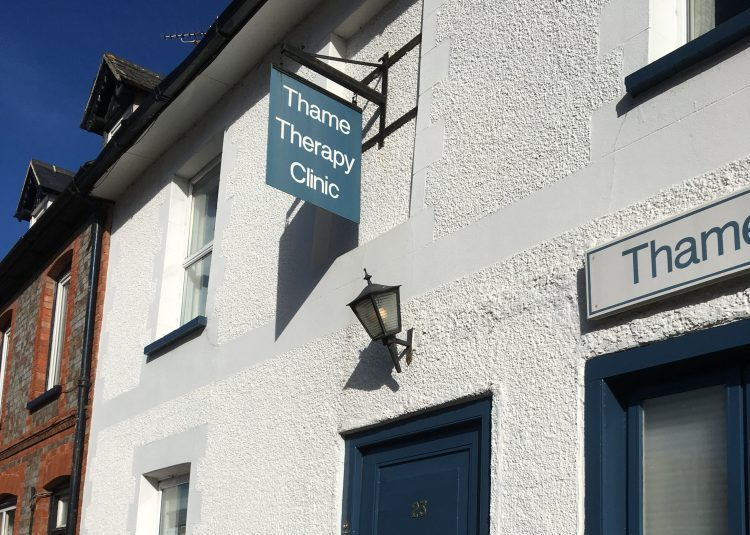 Thame Therapy Clinic outside white house blue door exterior