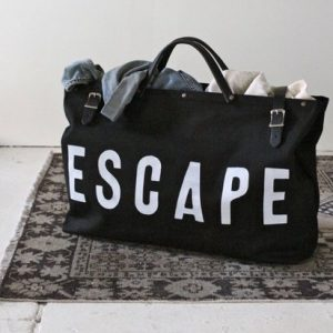 lovey stuff black big bag escape on floor