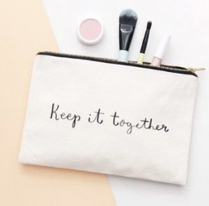 lovely stuff pouch keep it together make-up pouch