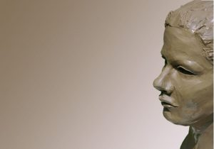 sculpture close up face woman's profile art