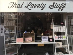that lovely stuff shop window exterior