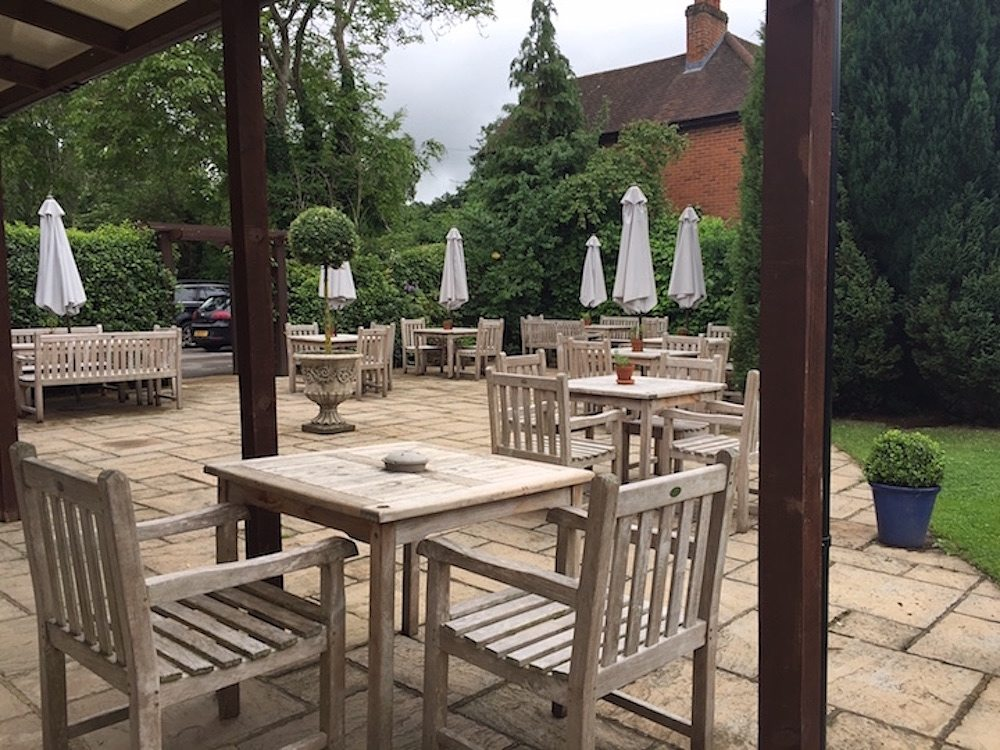three oaks garden dining tables and chairs outside