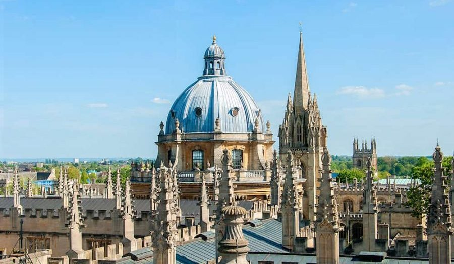 oxford spires views city sunshine