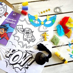 squidgydoodle superhero crafts doodle drawing mask colourful