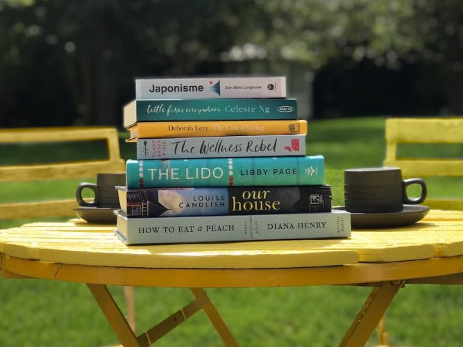 books coffee table summer