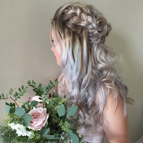 wedding hair flower bouquet