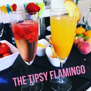 tipsy flamingo cocktails summer drinks