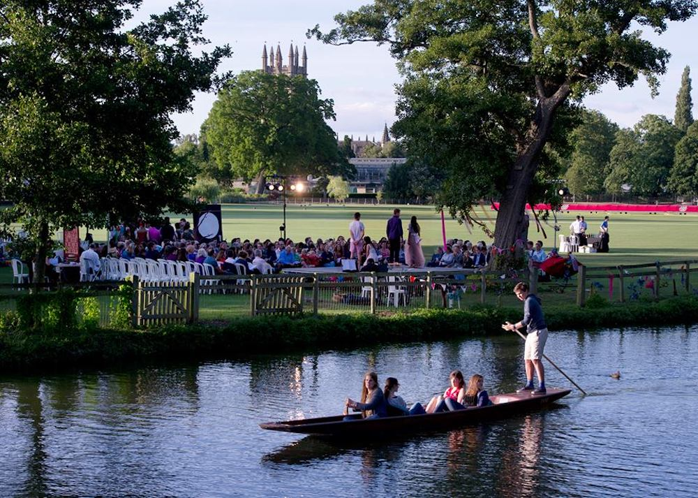oxford festival arts punting people river